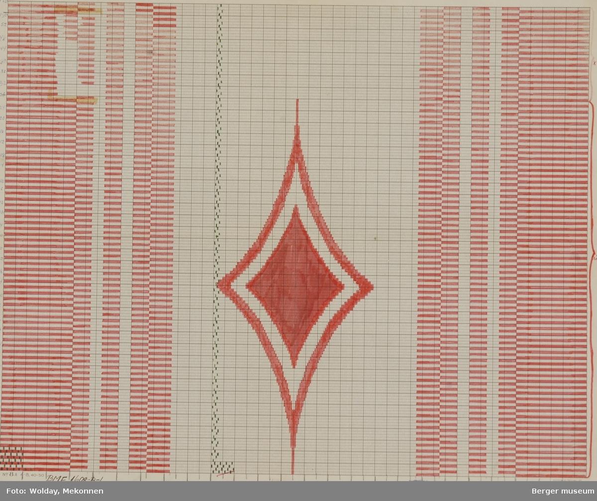 Stilisert knute med striper. (Til ullteppe) Til institusjon eller rederi ?
