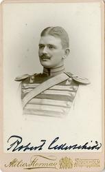Porträtt av Robert Theofron Cederschiöld, löjtnant vid Livre