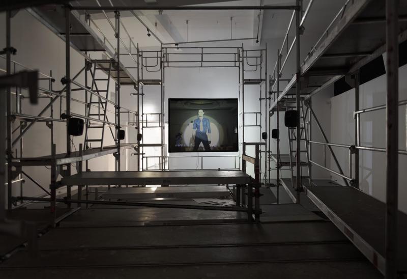 Lars Laumann Season of Migration to The North, 2015 Installation view, kunstnernes hus 2015.