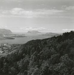 Utsikt fra Blindheimsfjellet med retning sør og vest.
