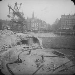 """Bygget av tunnelbanan i Paris 1899-1911. """"Le Métro de Paris"""""""