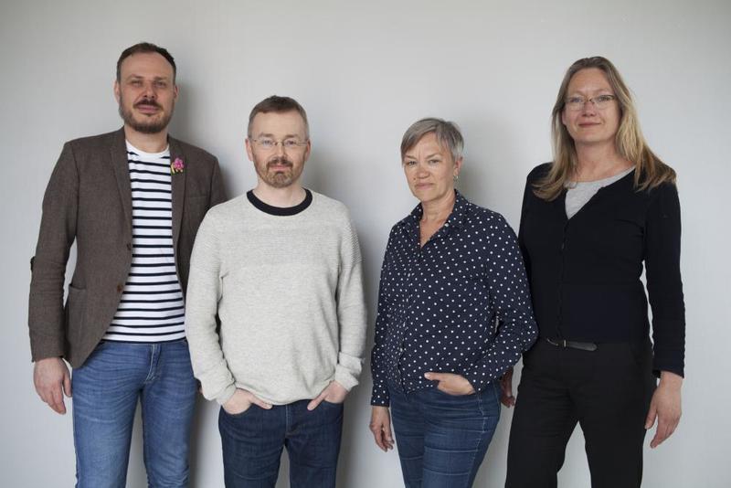 Årets jury, Steffen W. Holden (NKM), Reinhold Ziegler, Edith Lundebrekke og Anne Thomassen.