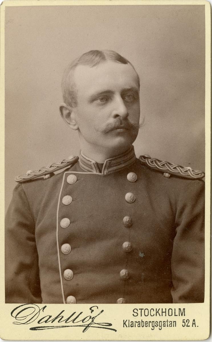 Porträtt av Johan Filip Anderson, löjtnant vid Hallands bataljon I 28.
