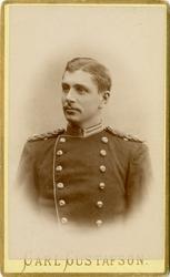 Porträtt av okänd underlöjtnant vid Närkes regemente.
