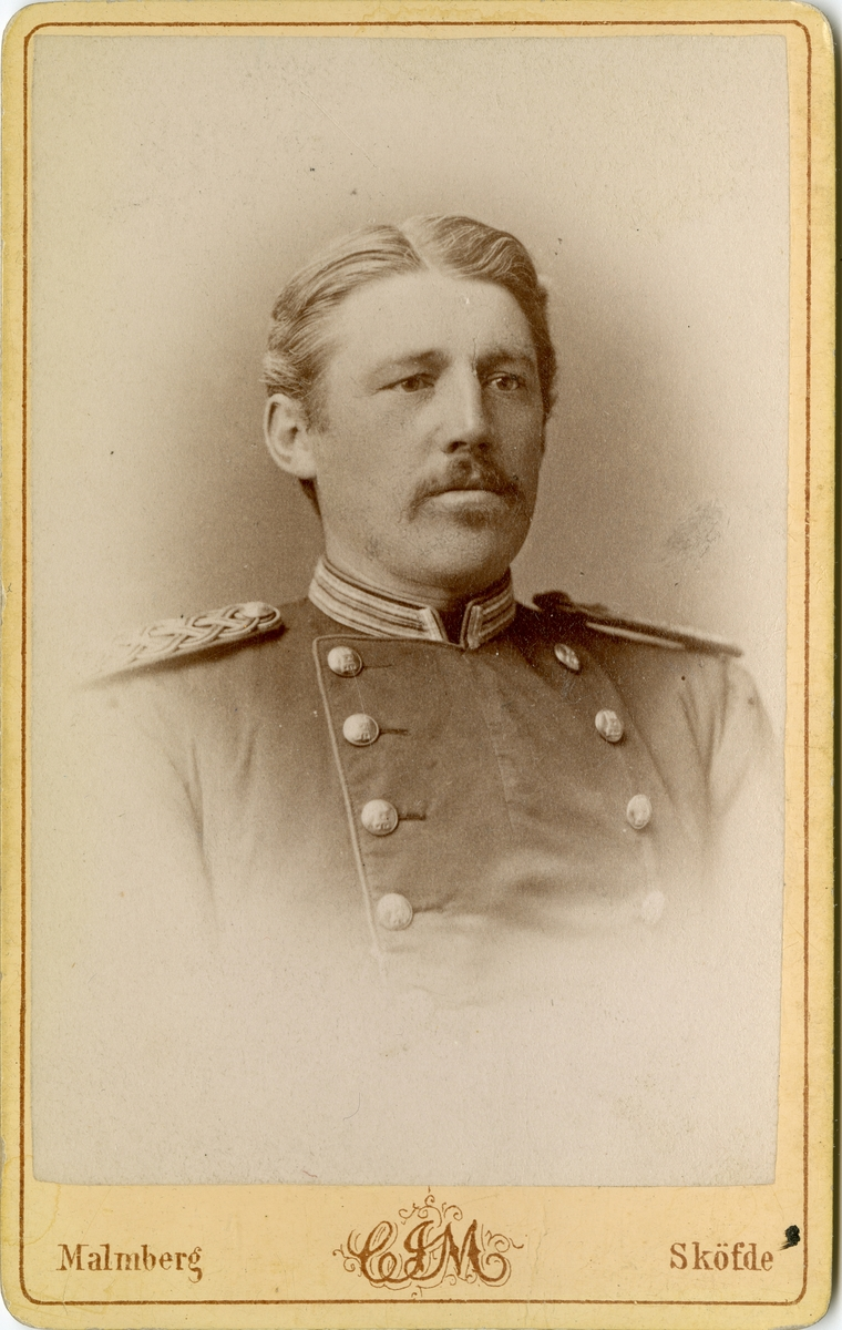 Porträtt av Carl Gustaf Fredrik Kuylenstierna, officer vid Jönköpings regemente I 12.