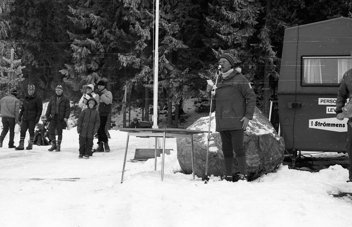 Vinterfest ved Myrdammen 1983