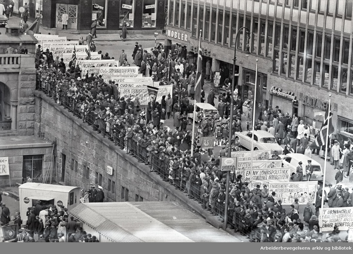 1. mai 1967, Youngstorget.