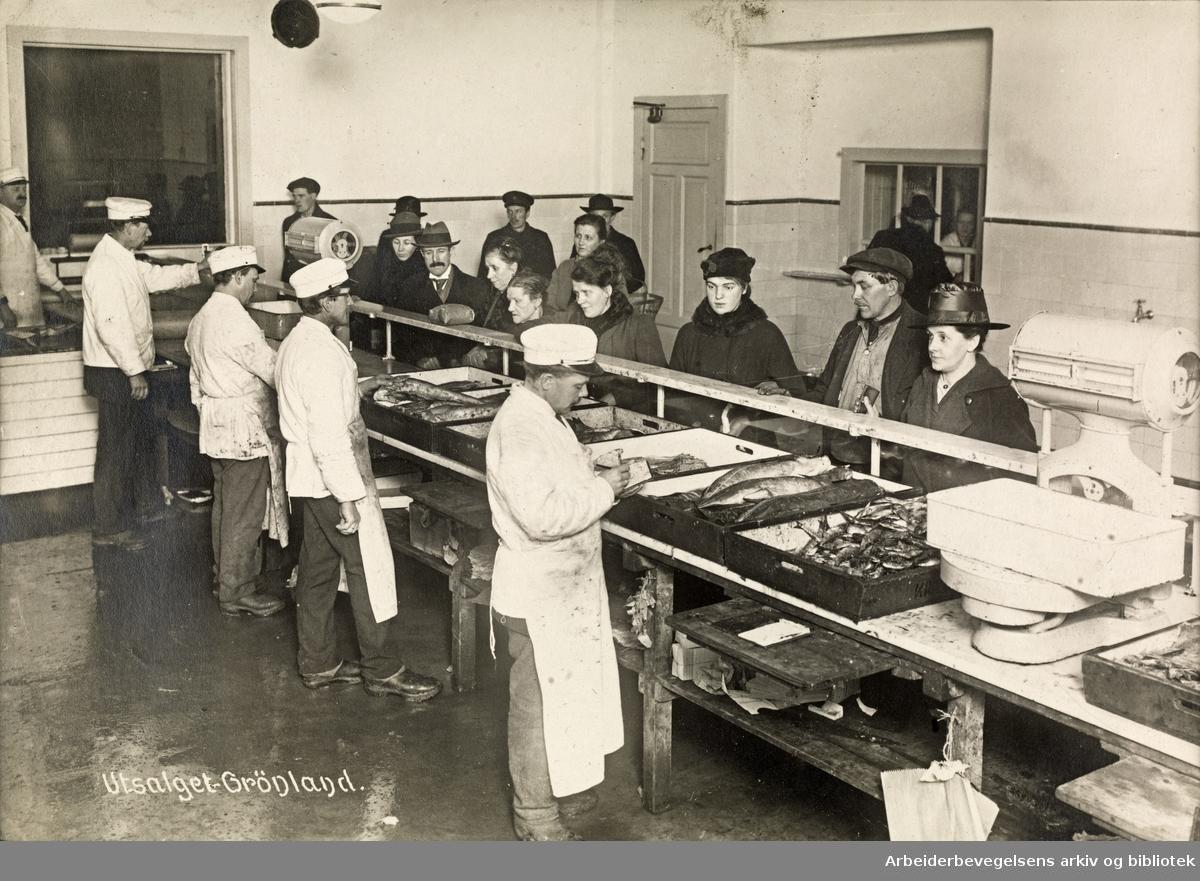 Kristiania komm. provianteringsråds utsalg av fisk på Grønland.