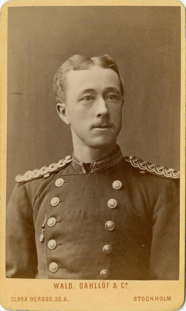 Porträtt av okänd underlöjtnant vid Dalregementet I 13.