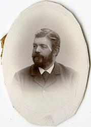 Porträtt av P. Jönsson vid Stockholms Tyg-, ammunitions- och