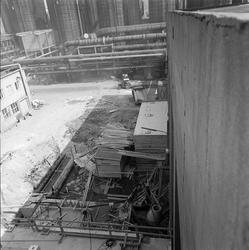 Bygging av ny Salpetersyrefabrikk. Grøft og fundamentering.
