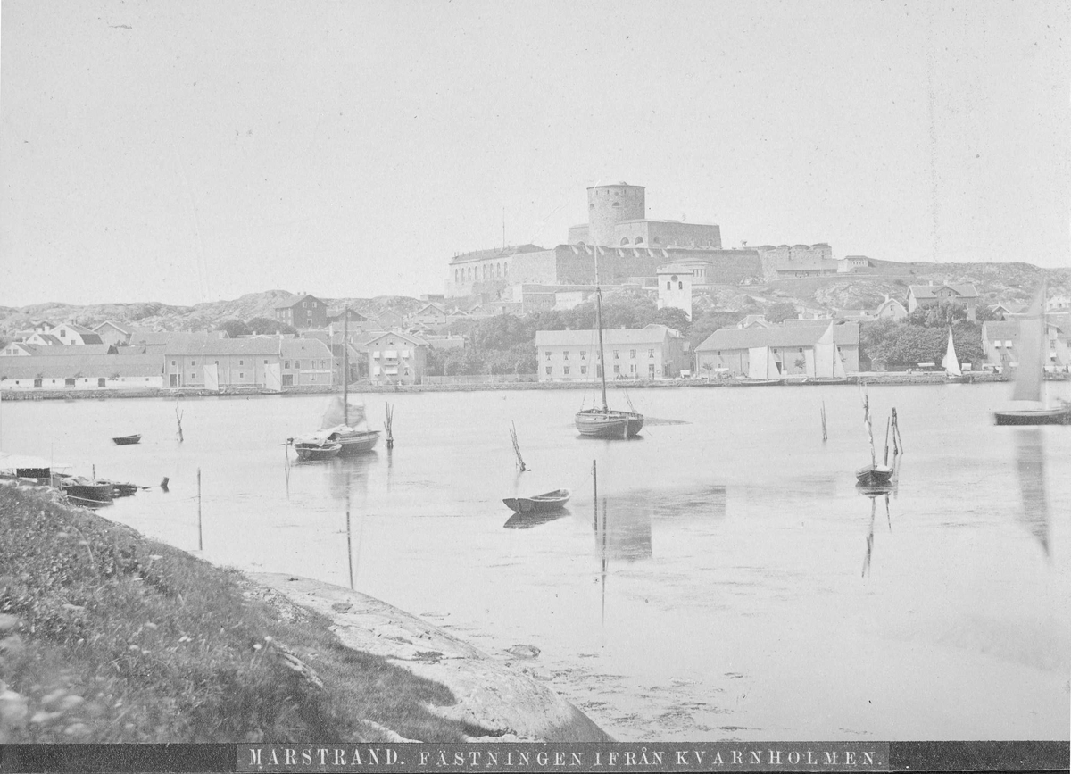 Vy över Marstrands fästning.