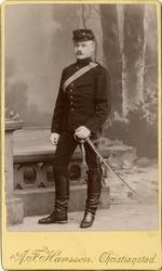 Porträtt av okänd soldat vid Wendes artilleriregemente A 3.