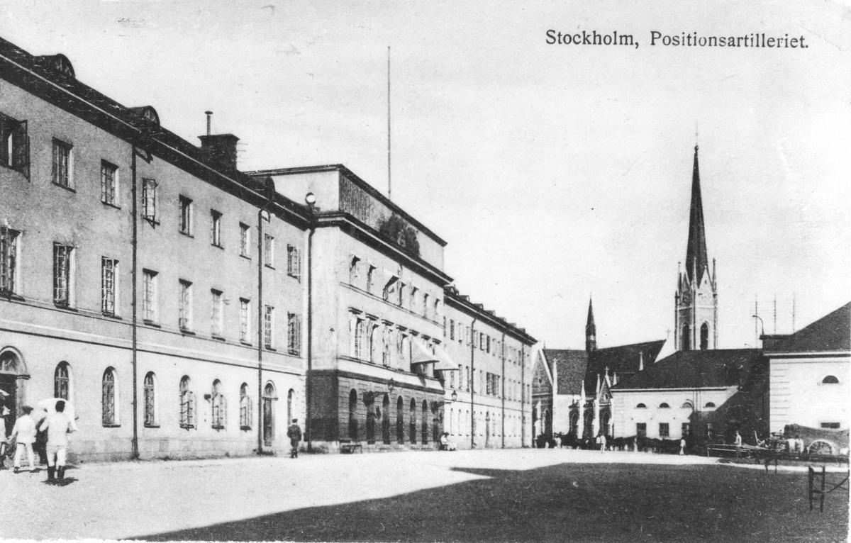 Positionsartilleriregementet A 9 lokaler i Stockholm.