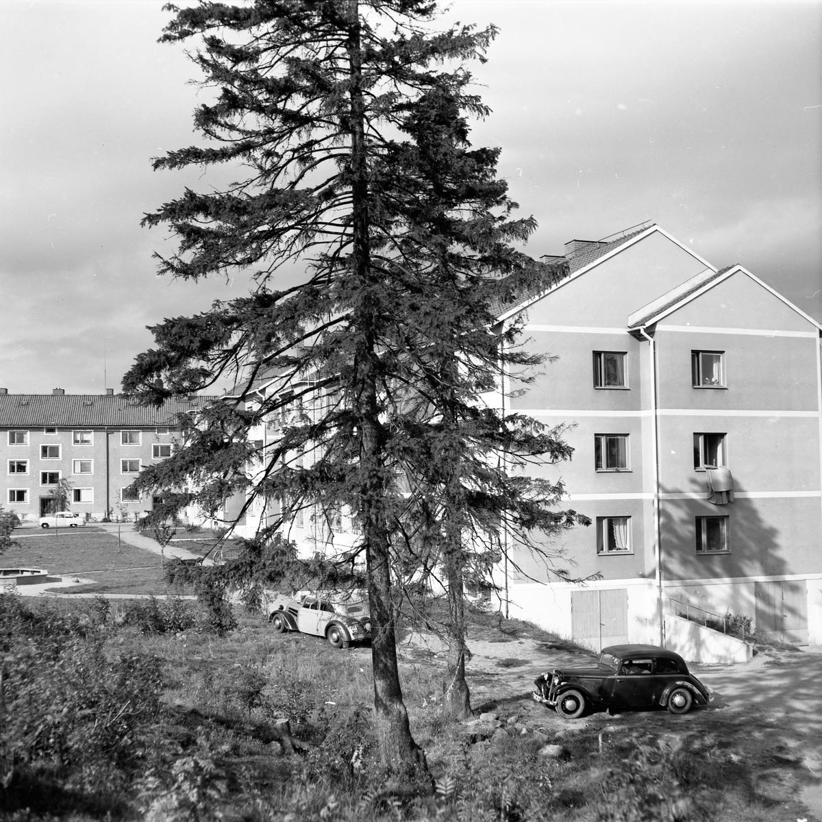 År 1957. Husexteriör.