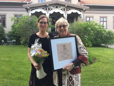 Kvinnemuseets hederspris 2017 til Torild Skard. Foto/Photo