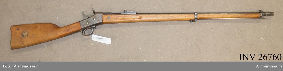 Grupp E II f. Gevär m/1867-89. Kal 8 mm.