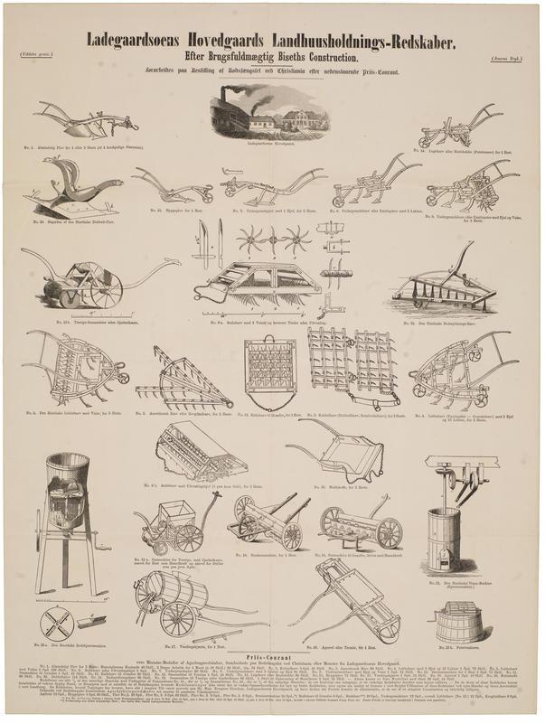 Plansjer av redskapene ble sendt skoler og sogneselskap og modellene kunne bestilles for bruk i pedagogisk øyemed