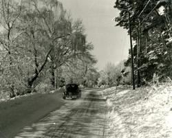 Landsvägen öster om Storängen.