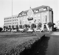 Hedemarken Sparebank, eksteriør, Torggata, Parkgata, Hamar.
