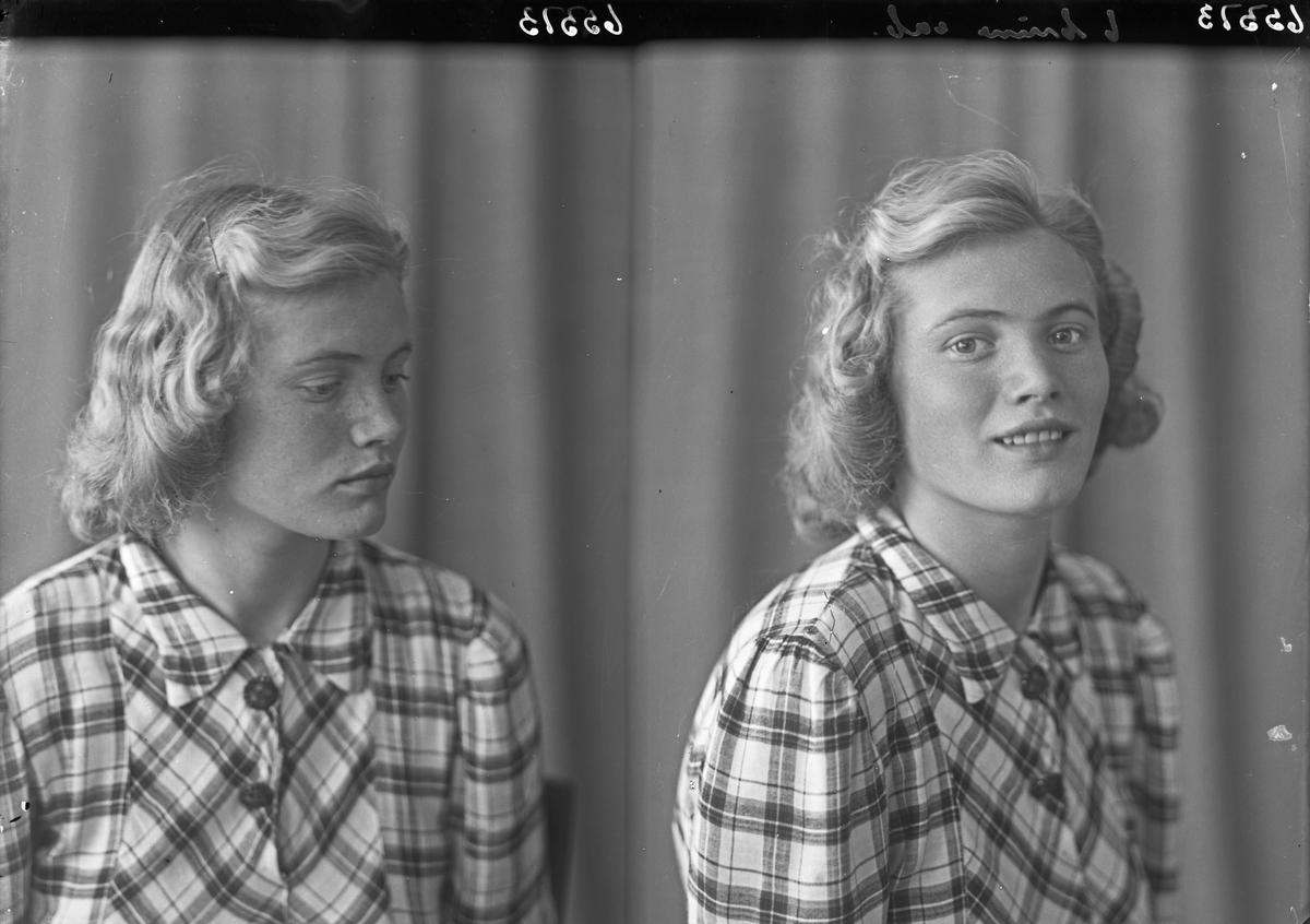 Portrett. Ung kvinne. Bestilt av Sigrun Elementsen. Hasselgt. 38.