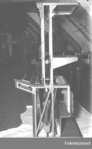 Telefonsentral, riksbord, Stavanger. Elektrisk Bureau.