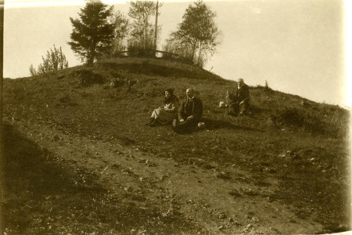 Hadeland Folkemuseum, Halvdanshaugen. Ca. 1921.