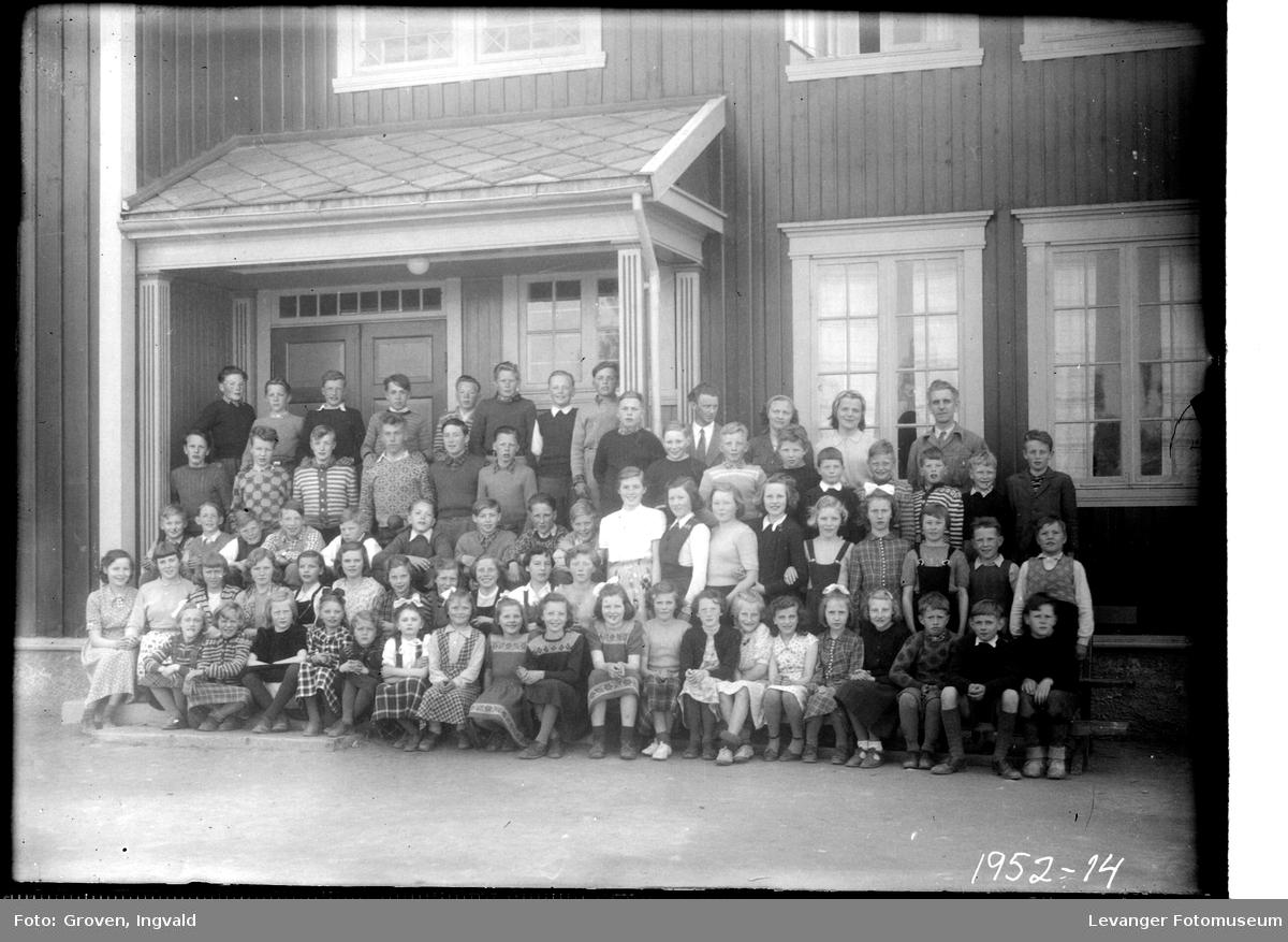 Skolebilde fra  folkeskolen, Lysaker skole.