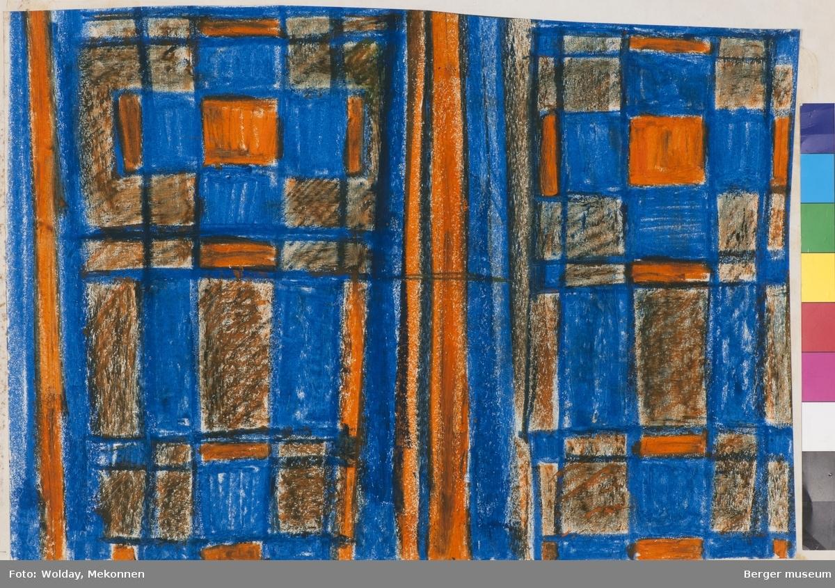 Ruter og striper inspirert av de Stijl-formspråket