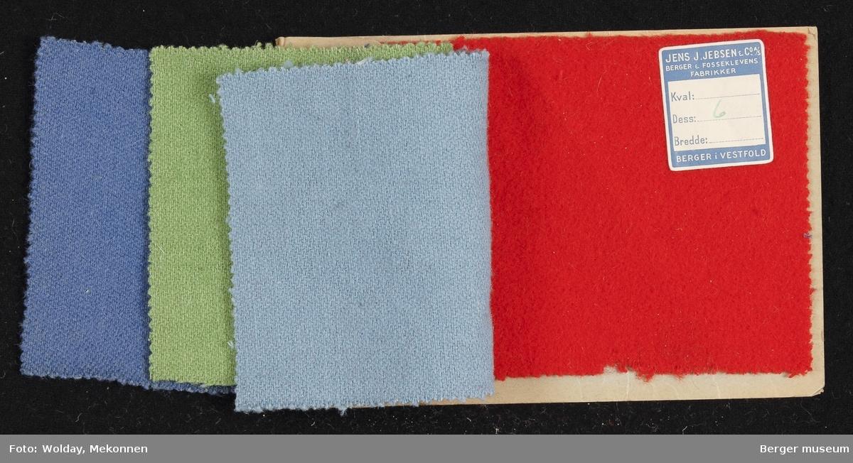 Prøvebok med 4 prøver. Kval. 4607 Jakkestoff Stykkfarget