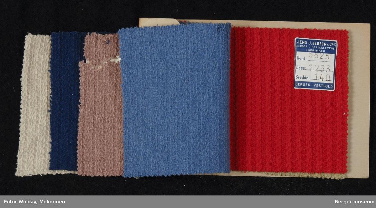 Prøvehefte med 6 prøver Kåpe Kvalitet 5824 Stykkfarget