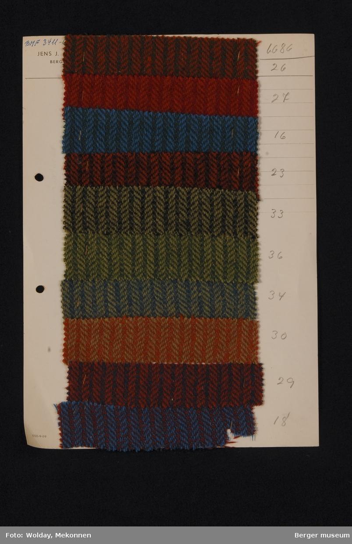 Ark med 10 prøver Jakke Kvalitet 6686 Melert