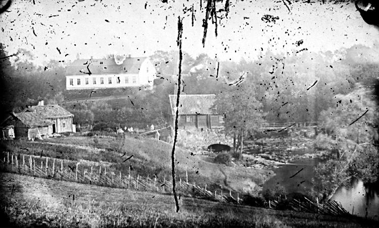 Bildtext: Vinköls socken. Skånings härad. Västergötland. Blombacka (1860-70-talet).