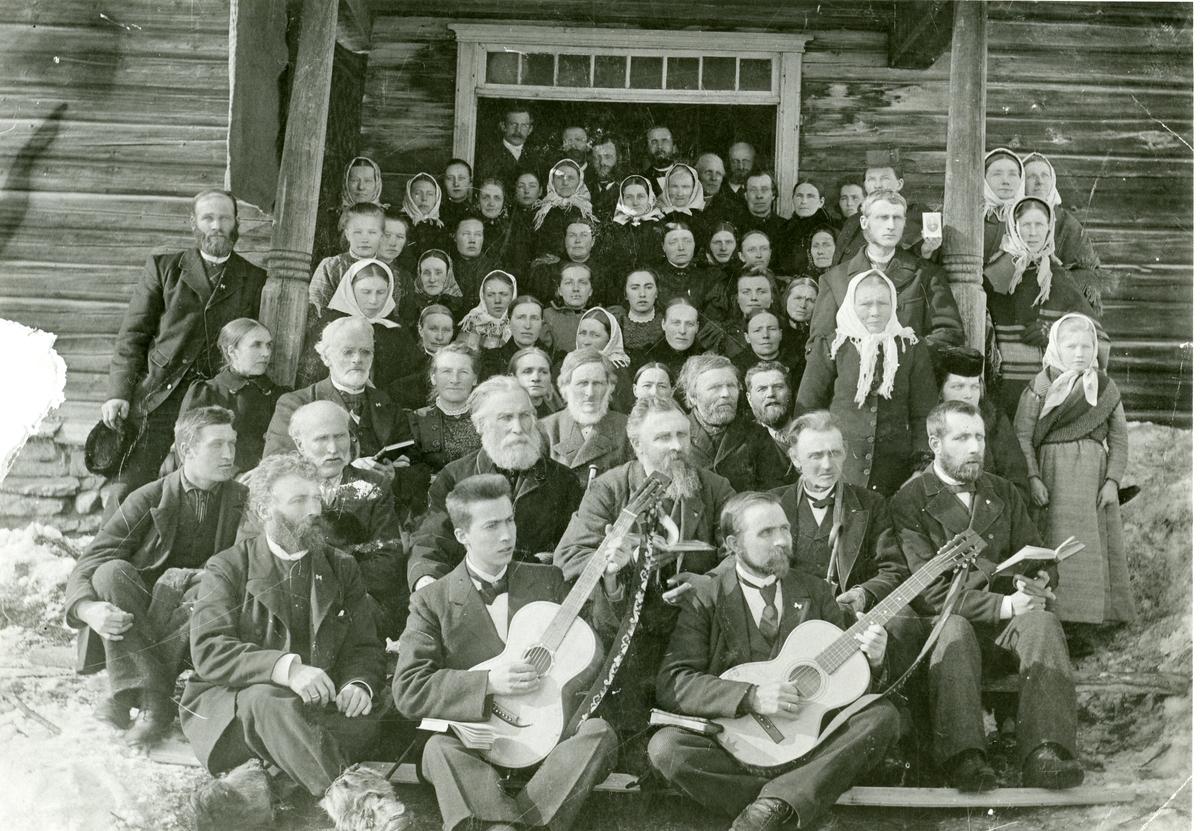 Kristeleg møte på nordre Bangsøygarden, 1890.