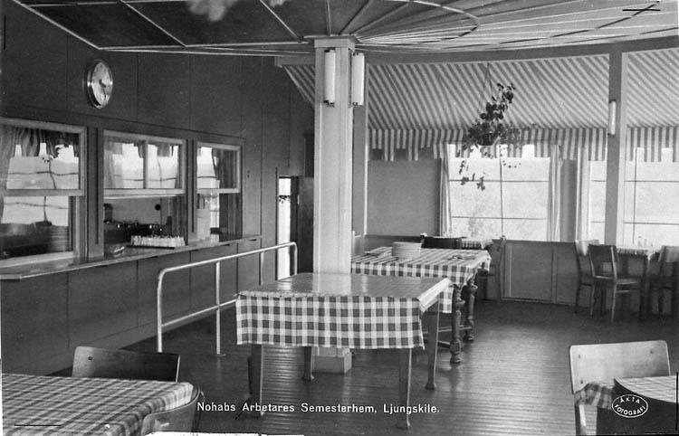 "Enligt Bengt Lundins noteringar: ""Ulvesund. Ulvöns matsal. Vykort Li BL 1293""."
