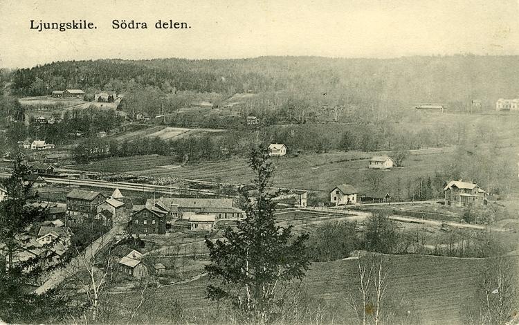 """Enligt Bengt Lundins noteringar: """"Ljungskile. Södra delen. Del av panoramabild""""."""