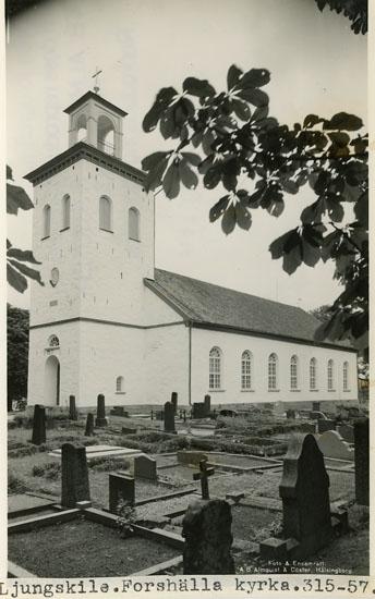"""Enligt Bengt Lundins noteringar: """"Forshälla kyrka""""."""