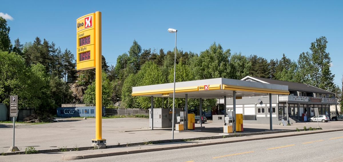 Uno X bensinstasjon Strømsveien Strømmen Skedsmo