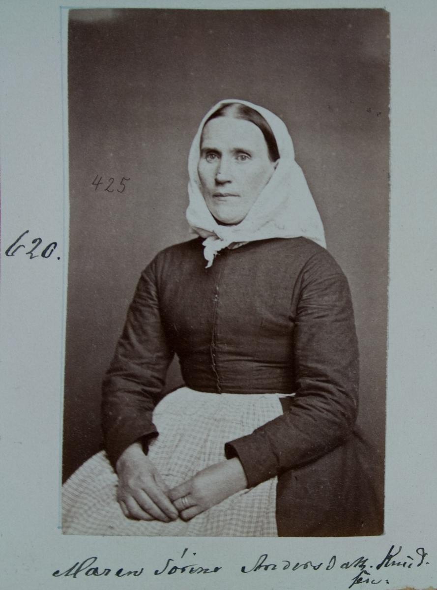 Fangeportrett, Maren Sørine Andersdatt. Knudsen