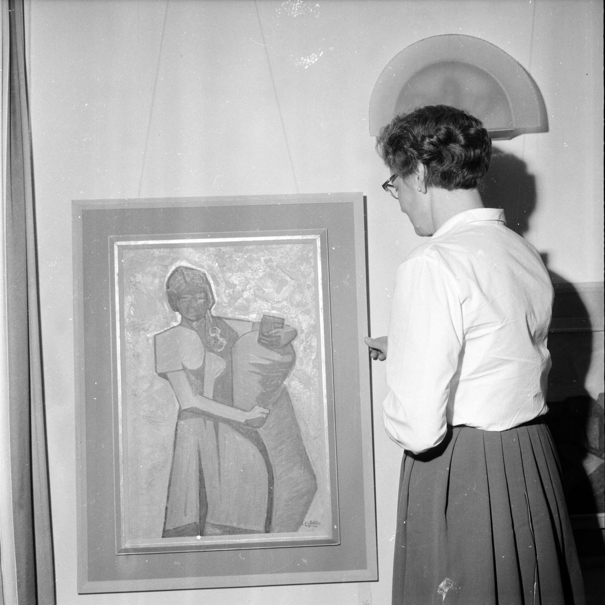 Clahr Emil, Utställning i Edsbyn, 18 Mars 1960