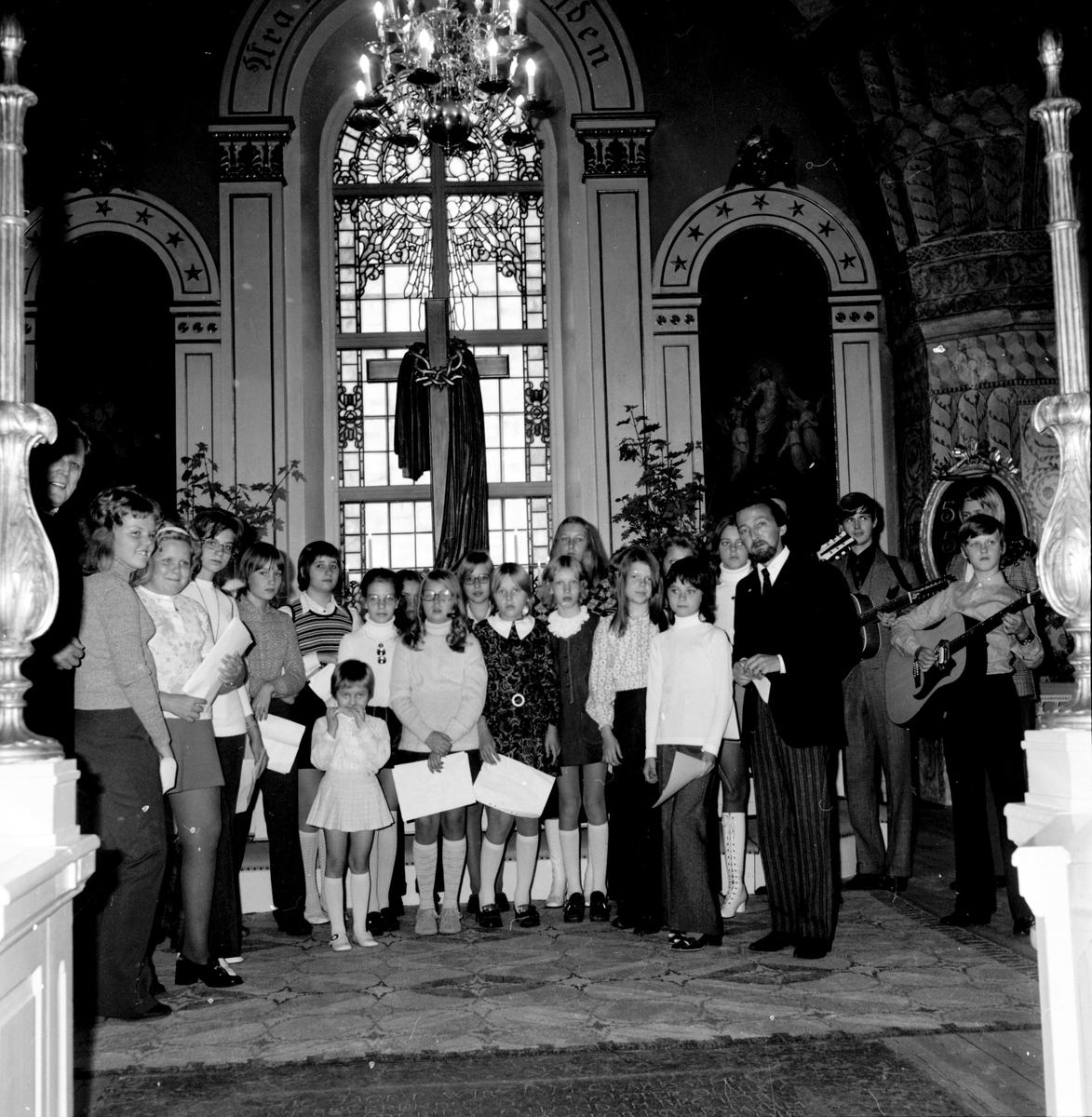 Arbrå, Ungdomsgudstjänst, Kyrkan, September 1971