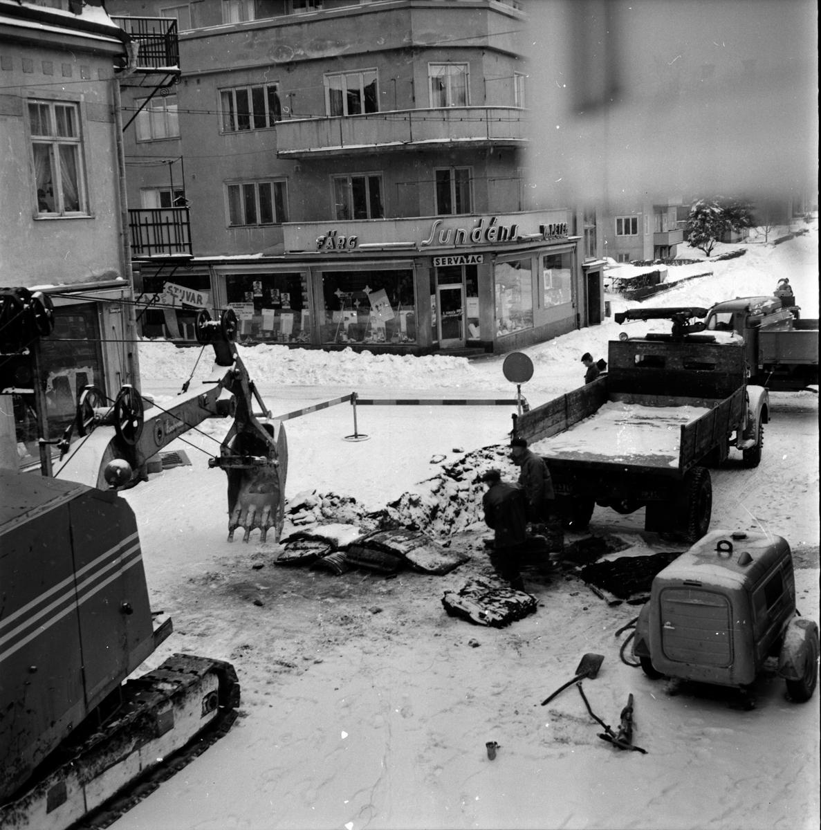 Vattenbekymmer, Brott i Odengatan, 30 Mars 1966