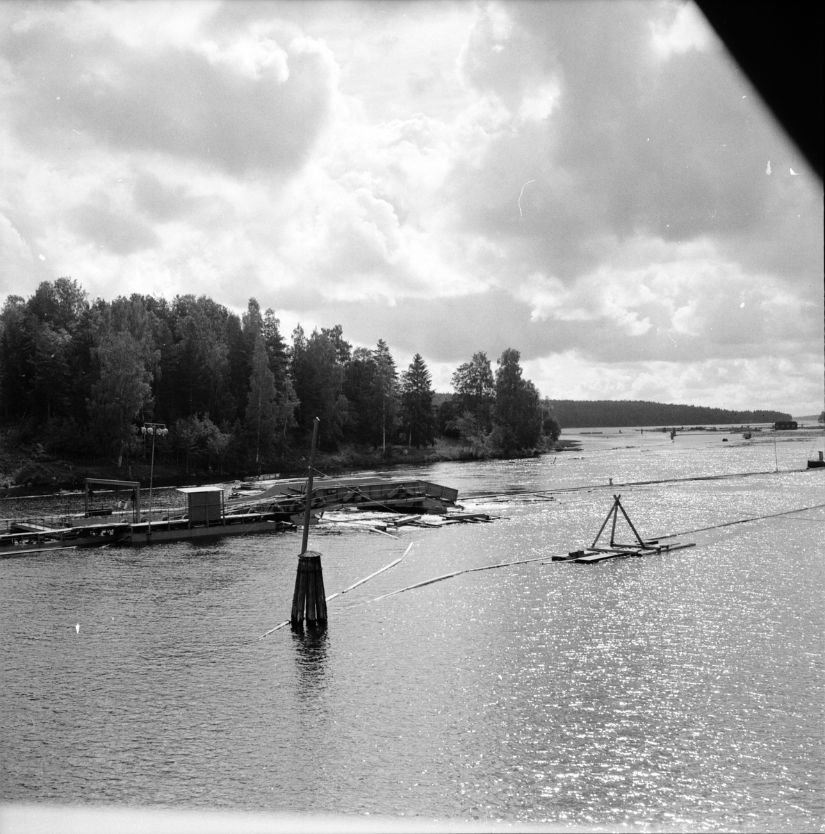 Flottning, Landafors-Bergvik, 6 Juli 1965