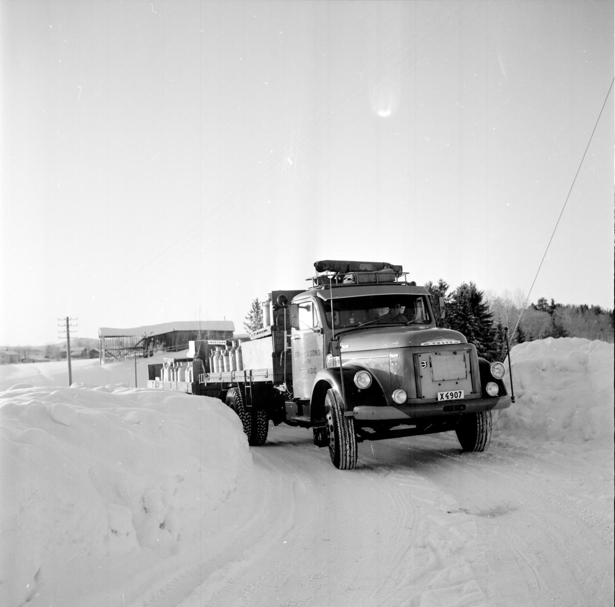 Mjölktransport i kylan, Kyliga arbetsplatser, 19 Jan 1966