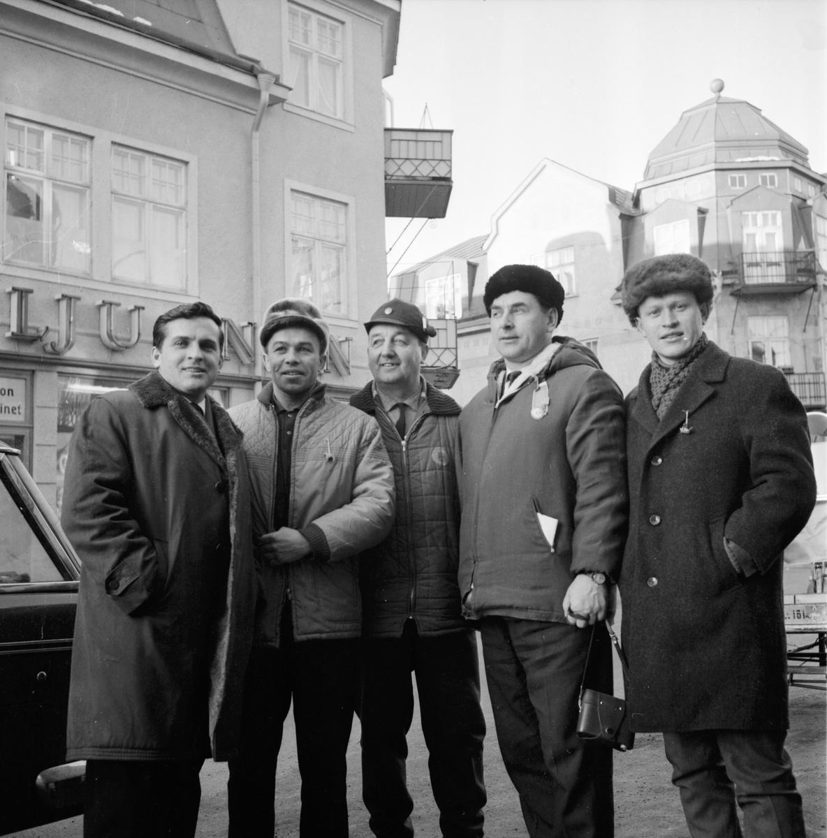 Ryska idrottsmän på besök i Bollnäs. 11/2-1965