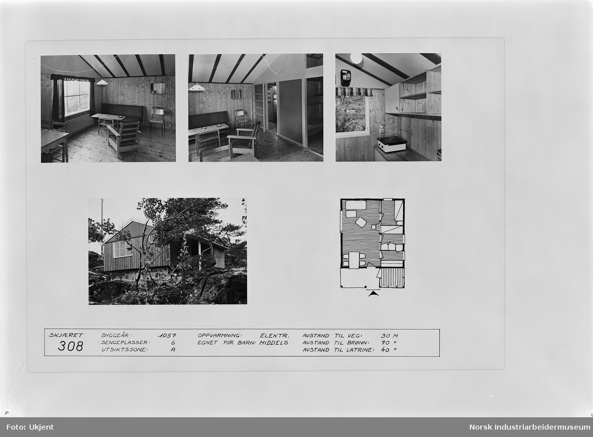 Hydrostranda. Informasjon om hytter. Hytte nr. 308, montage.