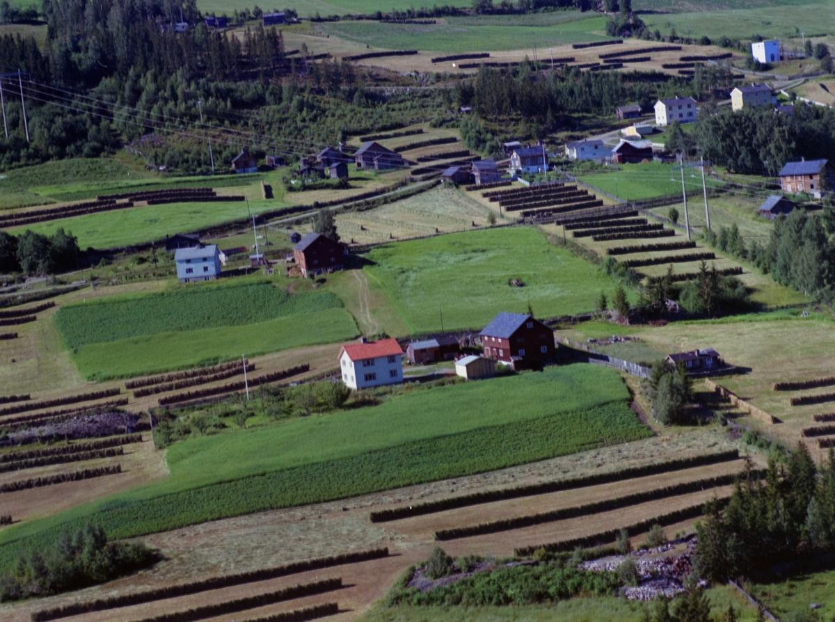 Sør-Fron, Harpefoss, Skurdalsbrenna eller Skurdalsbrenden. Åpent kulturlandskap, gårdsbruk, nyere hus, bærbusker, lange hesjer.
