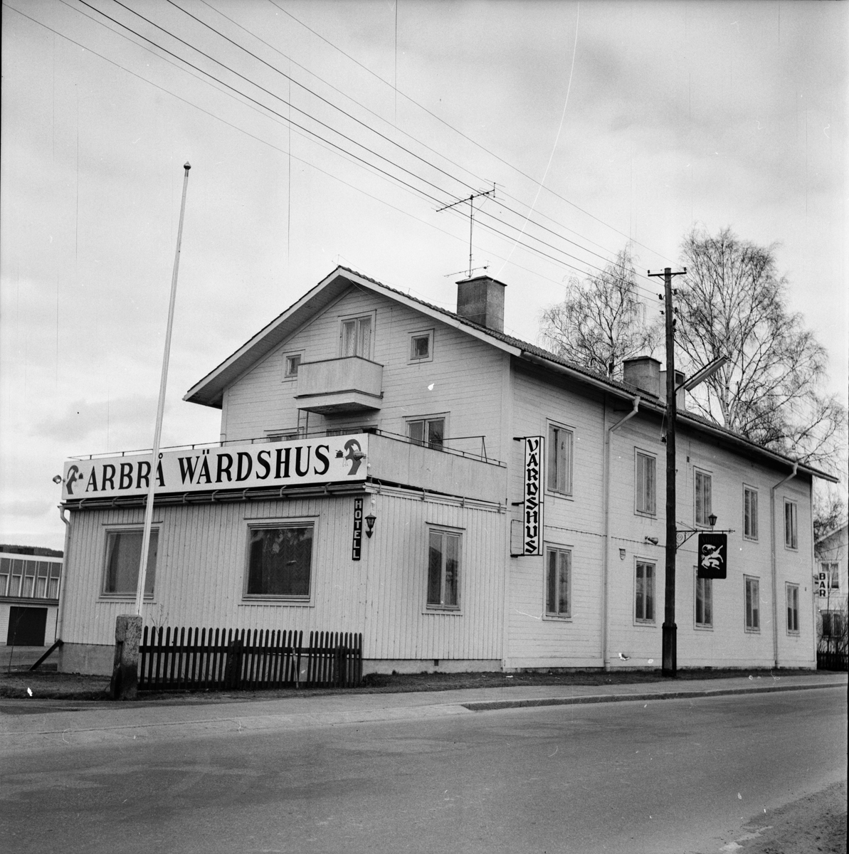 Arbrå Värdshus, April 1972