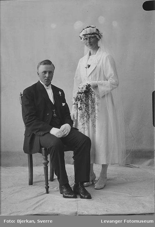 Portrett av et brudepar, Einar Tangen hennes navn er ukejnt.