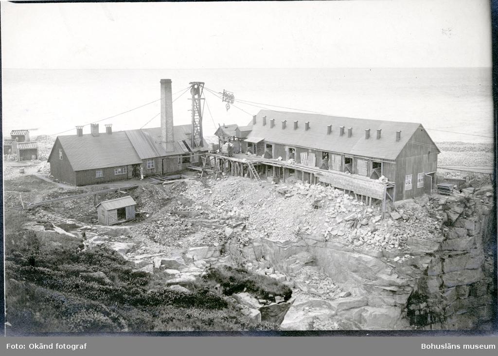 Byggnader på området för stenhuggeriet i Valbodalen